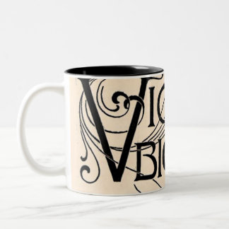 Vintage Victor Bicycle Ad Typography Bold Graphics Two-Tone Coffee Mug