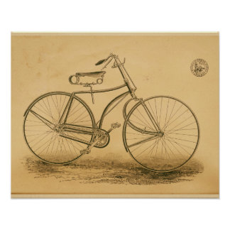 Vintage Victor Bicycle Magazine Ad Art Poster
