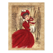 Vintage Victorian A Christmas Thought of You Postcard