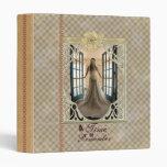 Vintage Victorian Add Photo Wedding Template Binde 3 Ring Binder
