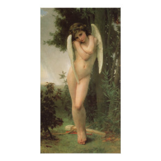 Vintage Victorian Angel Art, Cupid by Bouguereau Poster
