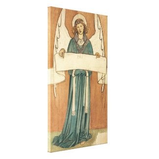 Vintage Victorian Angel by William Morris Canvas Print