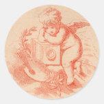 Vintage victorian angel cupid stickers
