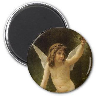 Vintage Victorian Angel, Prisoner by Bouguereau 2 Inch Round Magnet