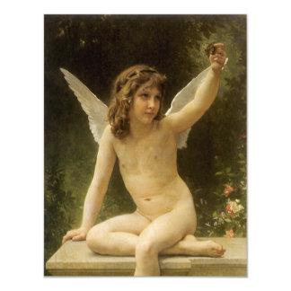 Vintage Victorian Angel, Prisoner by Bouguereau Card
