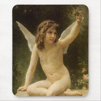 Vintage Victorian Angel, Prisoner by Bouguereau Mouse Pad