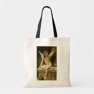 Vintage Victorian Angel, Prisoner by Bouguereau Tote Bag