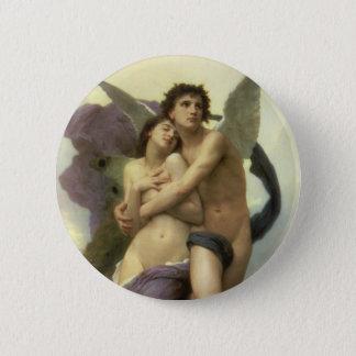 Vintage Victorian Angel, Ravishment by Bouguereau Button