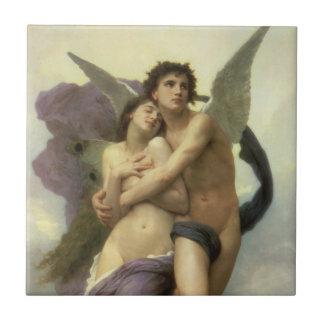 Vintage Victorian Angel, Ravishment by Bouguereau Tile