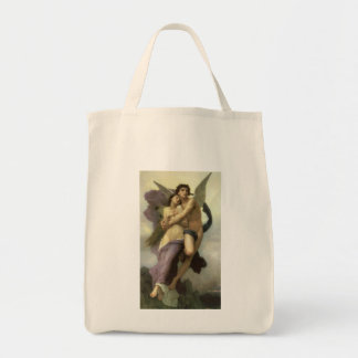Vintage Victorian Angel, Ravishment by Bouguereau Tote Bag