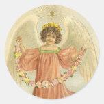 Vintage Victorian Angel Star Stickers Seals