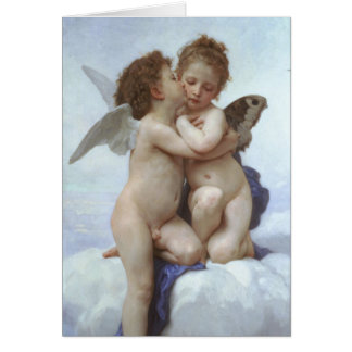 Vintage Victorian Angels, First Kiss by Bouguereau Card