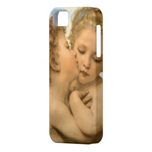 Vintage Victorian Angels, First Kiss by Bouguereau iPhone 5 Covers