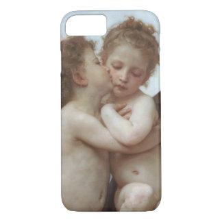 Vintage Victorian Angels, First Kiss by Bouguereau iPhone 7 Case