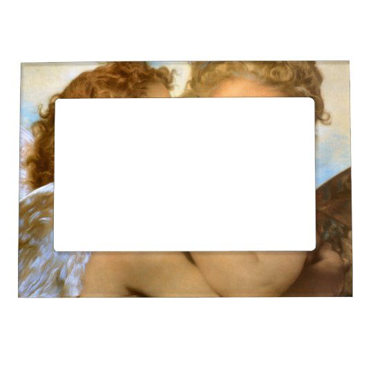 Vintage Victorian Angels, First Kiss by Bouguereau Magnetic Frame