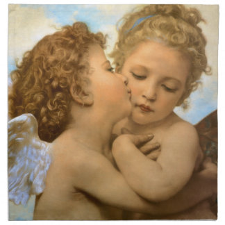 Vintage Victorian Angels, First Kiss by Bouguereau Napkin