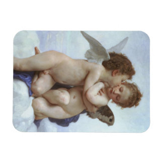 Vintage Victorian Angels, First Kiss by Bouguereau Rectangular Photo Magnet