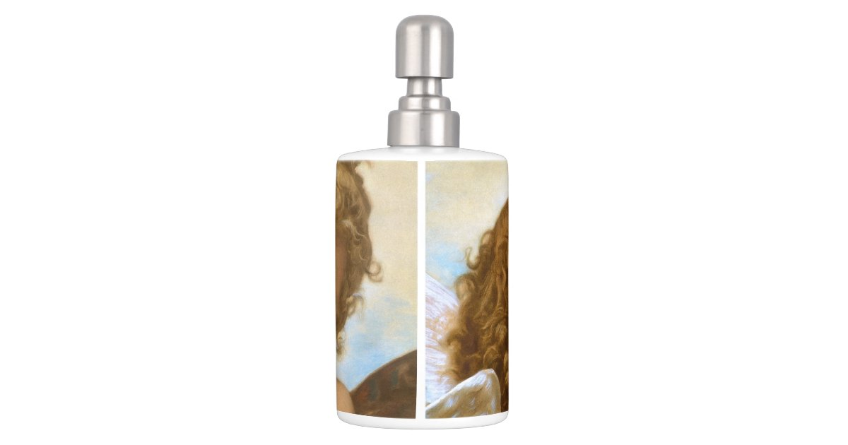 Vintage victorian angels first kiss by bouguereau soap dispenser and toothbrush holder zazzle - Victorian toothbrush holder ...
