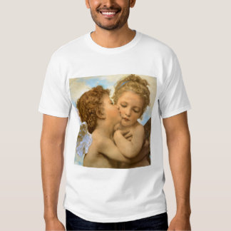 Vintage Victorian Angels, First Kiss by Bouguereau T Shirt