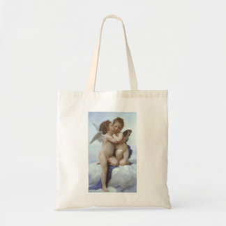 Vintage Victorian Angels, First Kiss by Bouguereau Tote Bag