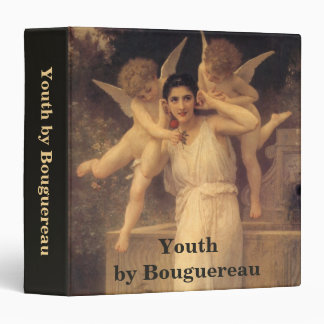 Vintage Victorian Angels, Youth by Bouguereau 3 Ring Binder