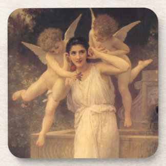 Vintage Victorian Angels, Youth by Bouguereau Beverage Coaster