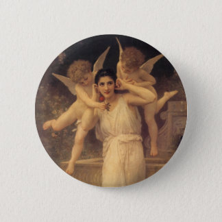 Vintage Victorian Angels, Youth by Bouguereau Pinback Button