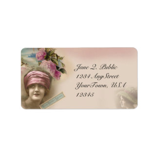 Vintage Victorian Antique Style Address Label