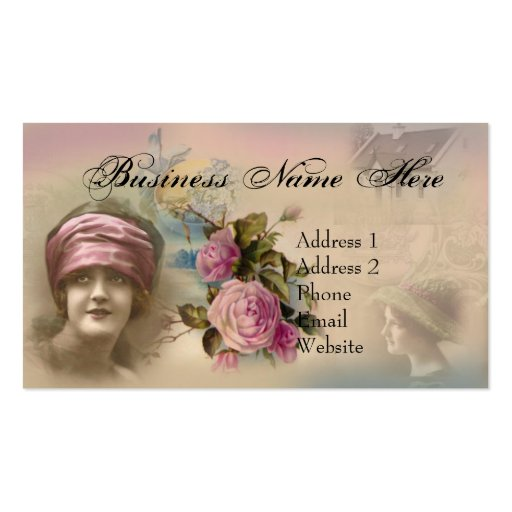 Vintage victorian antique style business card zazzle for Business cards vintage style