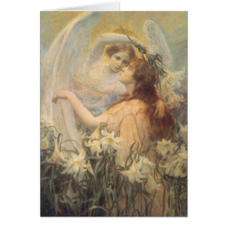 Vintage Victorian Art Angel's Message by Swinstead Greeting Card