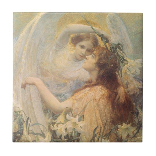 Vintage Victorian Art Angel's Message by Swinstead Ceramic Tile