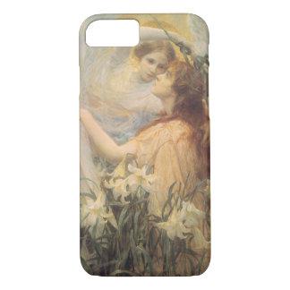 Vintage Victorian Art Angel's Message by Swinstead iPhone 7 Case