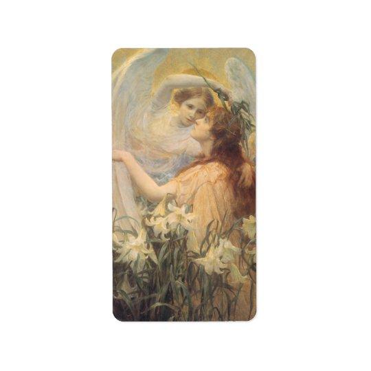 Vintage Victorian Art Angel's Message by Swinstead Label