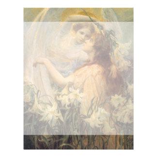 Vintage Victorian Art Angel's Message by Swinstead Letterhead