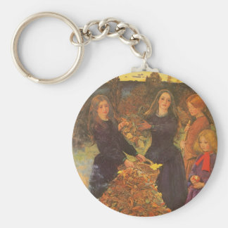 Vintage Victorian Art, Autumn Leaves by Millais Keychain