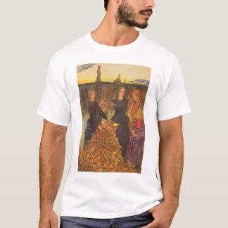 Vintage Victorian Art, Autumn Leaves by Millais T-Shirt