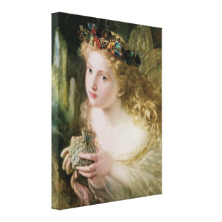 Vintage Victorian Art, Beautiful Fairy Butterflies Stretched Canvas Print