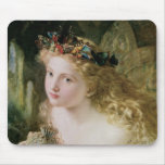 Vintage Victorian Art, Beautiful Fairy Butterflies Mouse Pad