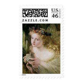 Vintage Victorian Art Beautiful Fairy Butterflies Postage Stamps
