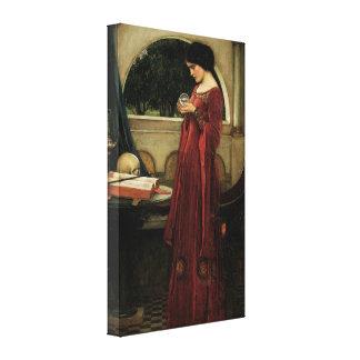Vintage Victorian Art, Crystal Ball by Waterhouse Canvas Print