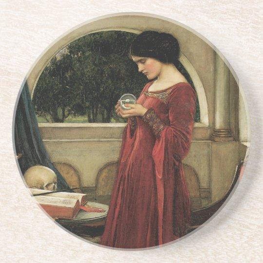 Vintage Victorian Art, Crystal Ball by Waterhouse Coaster