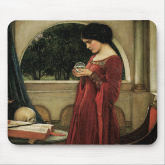 Vintage Victorian Art, Crystal Ball by Waterhouse Mouse Pad