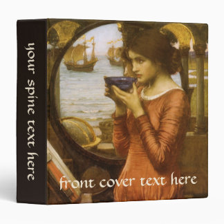 Vintage Victorian Art, Destiny by JW Waterhouse 3 Ring Binder