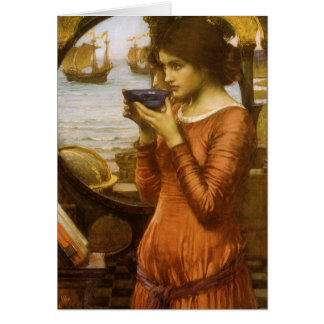 Vintage Victorian Art, Destiny by JW Waterhouse Greeting Card