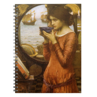 Vintage Victorian Art, Destiny by JW Waterhouse Spiral Notebook