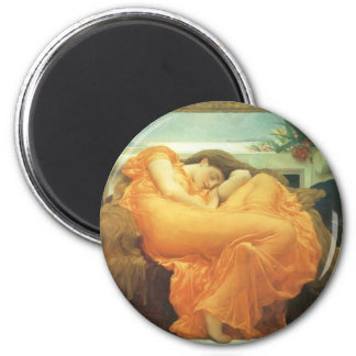 Vintage Victorian Art, Flaming June by Leighton 2 Inch Round Magnet