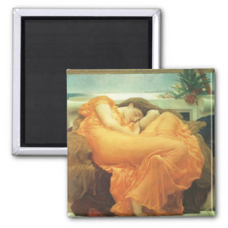 Vintage Victorian Art, Flaming June by Leighton 2 Inch Square Magnet