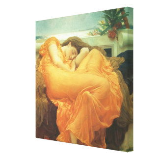 Vintage Victorian Art, Flaming June by Leighton Canvas Print