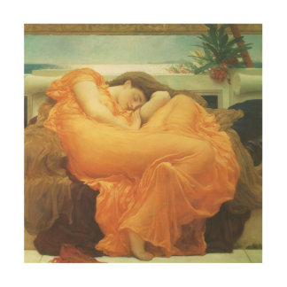 Vintage Victorian Art, Flaming June by Leighton Wood Print