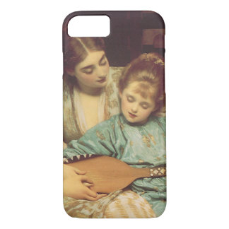 Vintage Victorian Art, Music Lesson by Leighton iPhone 8/7 Case